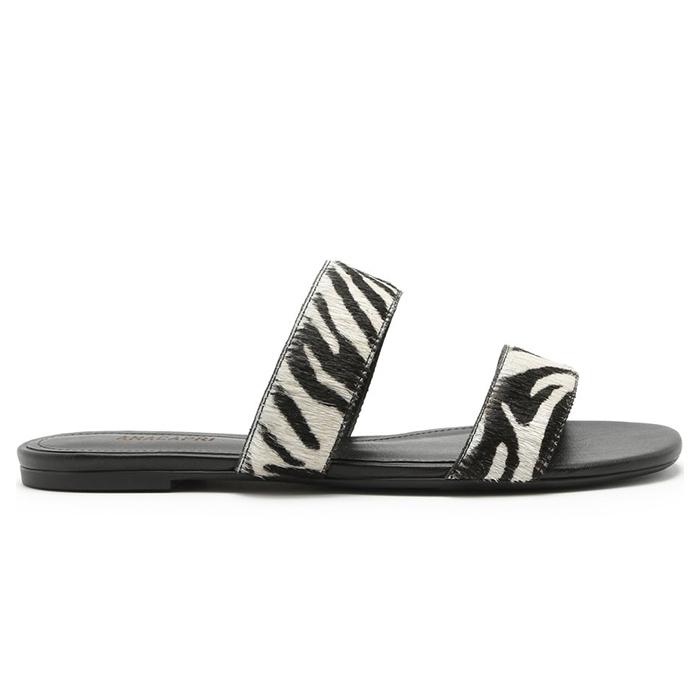 Rasteira Tiras Retas Anacapri - Zebra