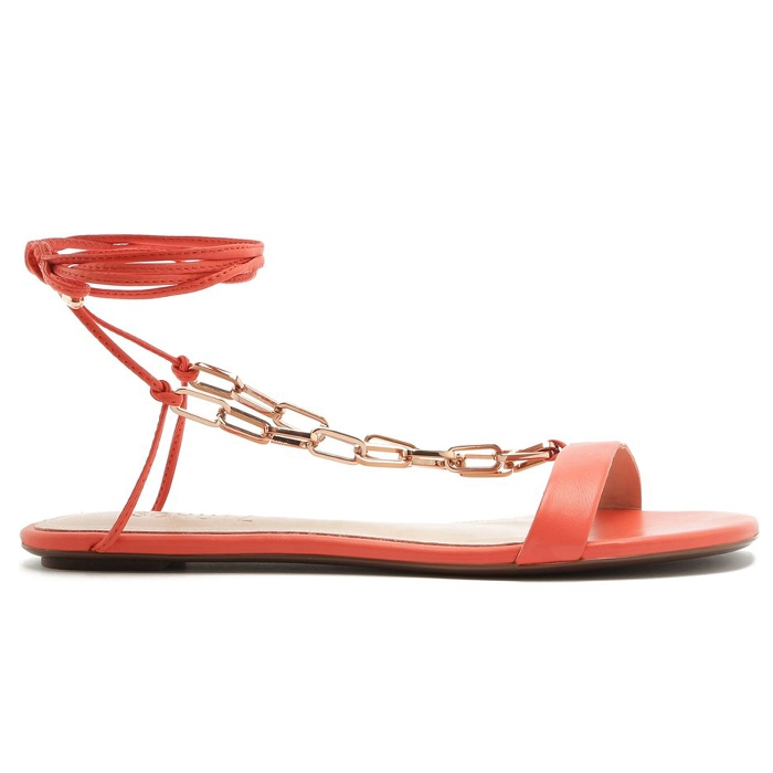 Sandália Flat Lace-Up Fun Chain Schutz - Coral