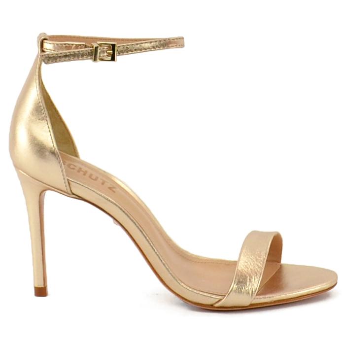Sandália Gisele Minimal Schutz - Dourada