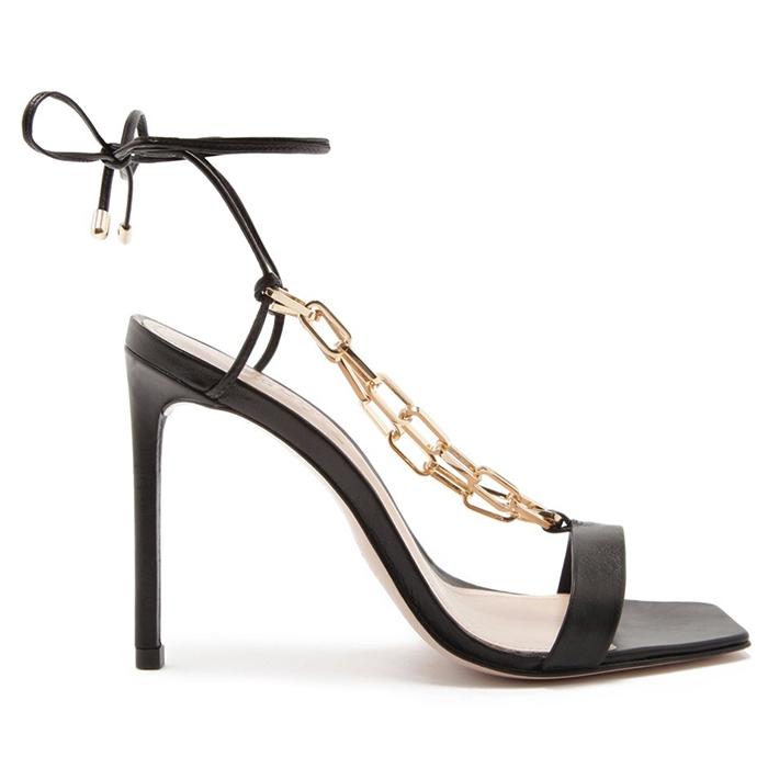 Sandália Lace-Up Chain Schutz - Black