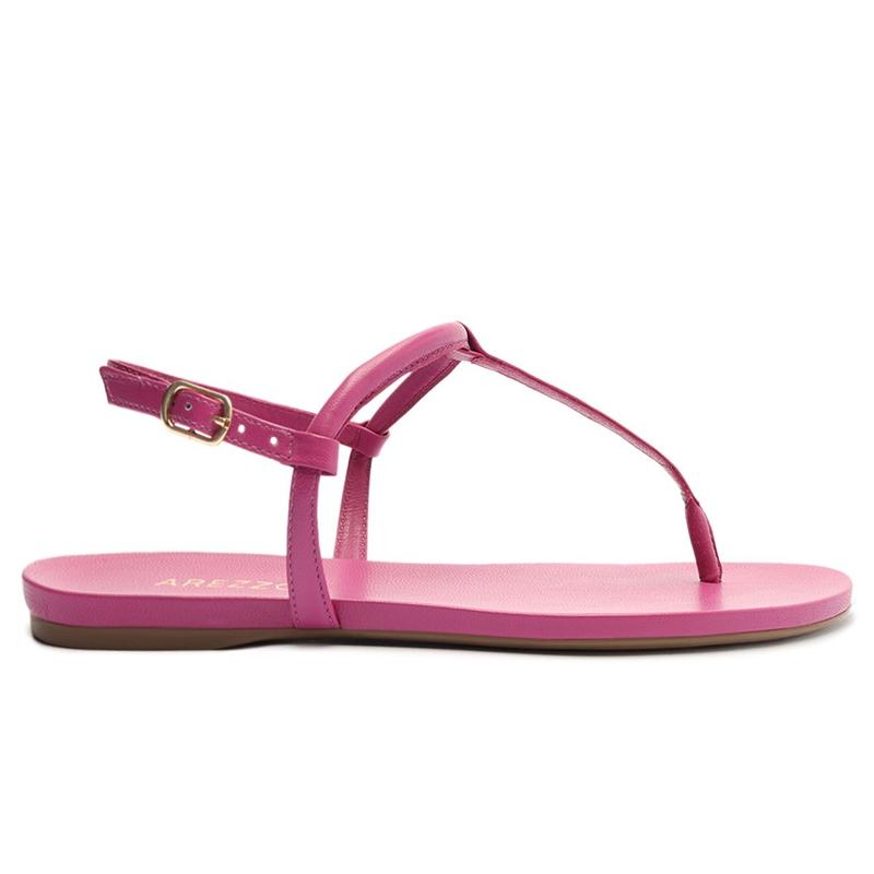Sandália Rasteira Slim Básica Arezzo - Pink