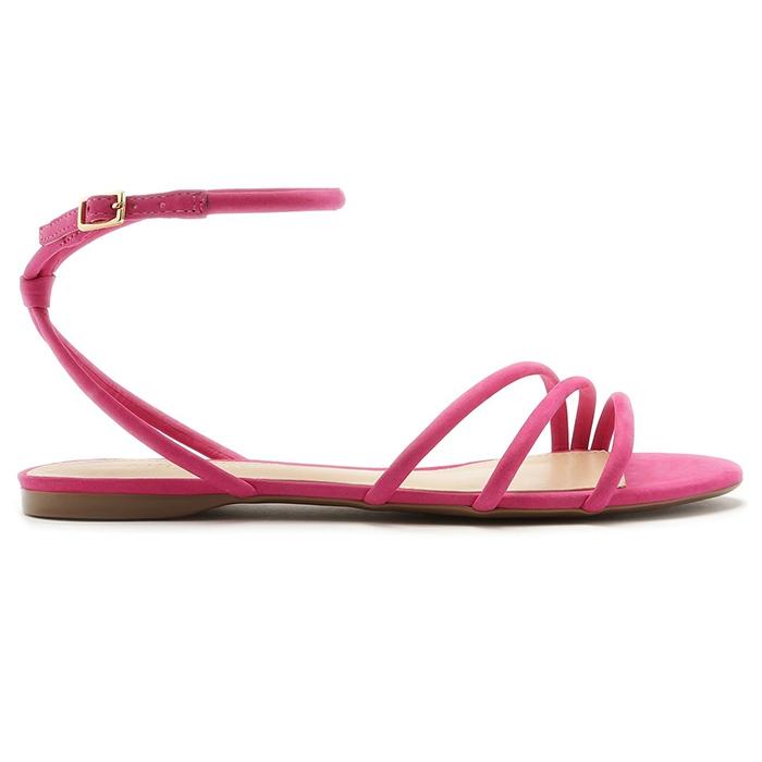Sandália Rasteira Welour Tiras Arezzo - Summer Pink