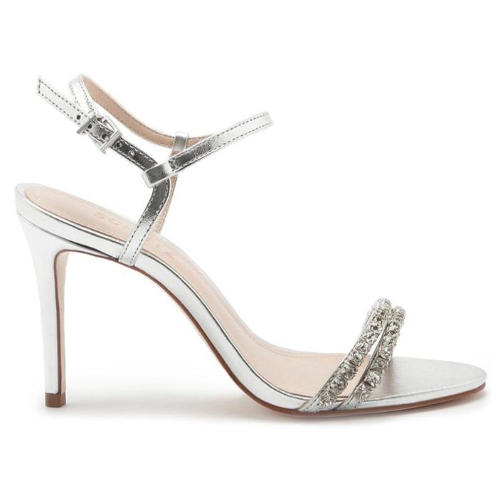 Sandália Salto Glam Stones Schutz - Prata