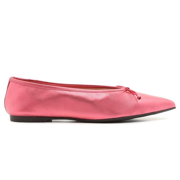 Sapatilha Pointy Metallic Schutz - Pink
