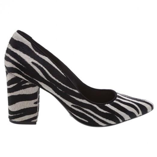 Scarpin Block Heel Schutz - Zebra