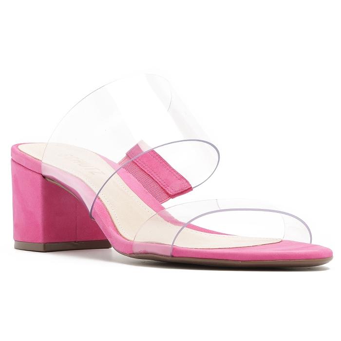 Tamanco Block Heel Vinil Schutz - Pink
