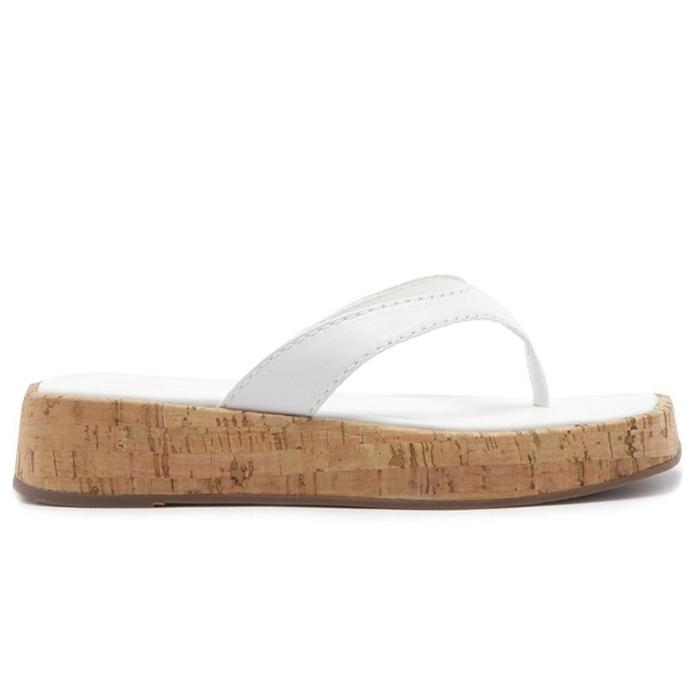 Tamanco Slide Flip- Flop Cortiça Schutz - White