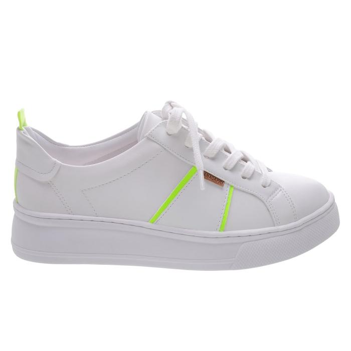 Tênis Dani Sola Alta Anacapri - Branco/Verde Neon