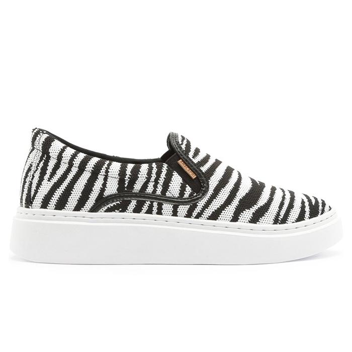 Tênis Duda Slip On Knit Anacapri - Zebra