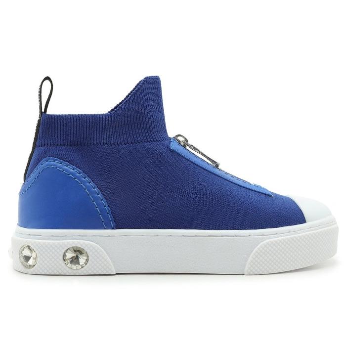 Tênis High Knit Zíper Schutz - Blue