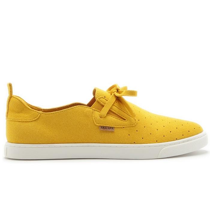 Tênis Malu Slip On Anacapri - Amarelo