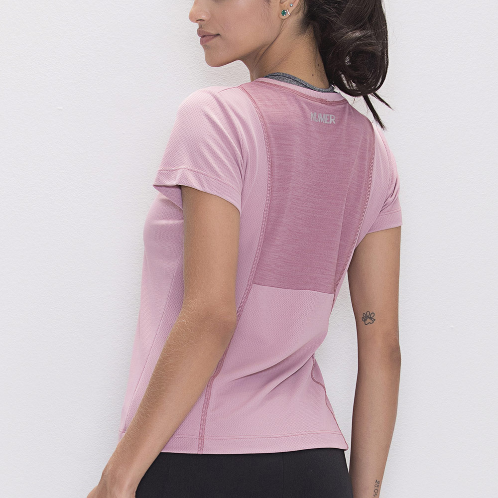 Camisa Numer Duo Rosa Feminina