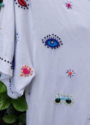 Camiseta Ícones Branca