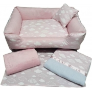 Enxoval p/ Cachorro Cotton Cloud Pink M Mr Puppy