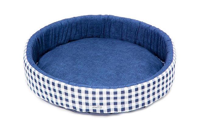 Cama Redonda Azul M Fábrica Pet