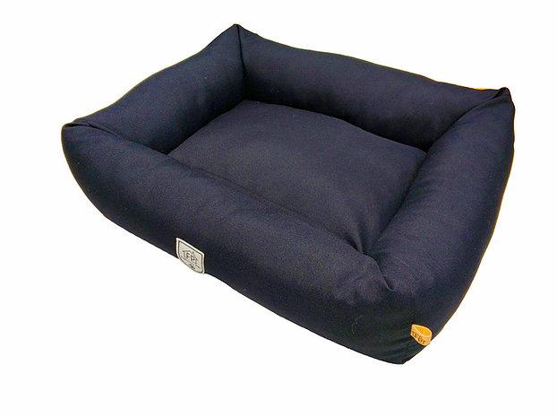 Cama Retangular Azul M Fabrica Pet