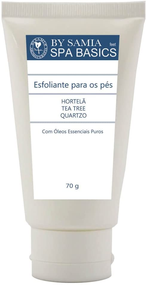 Esfoliante para Pés Hortelã Tea Tree Quartzo By Samia Promoção