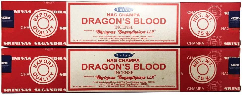 Incenso Vareta Massala Dragons Blood Satya 15gr