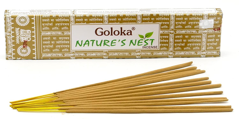 Incenso Natures Nest Vareta Massala 15G Goloka