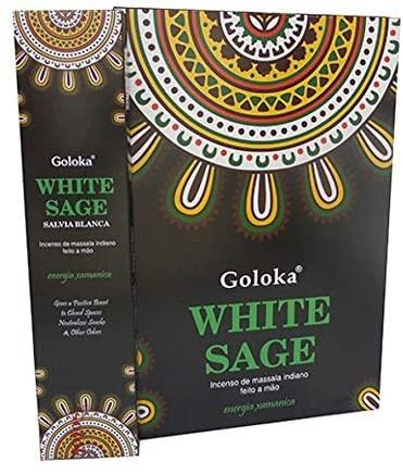 Incenso Vareta Massala White Sage Goloka 15 g