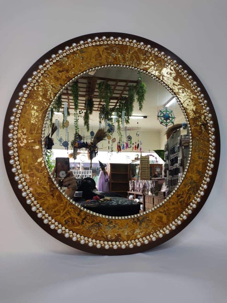 Mandala de Espelho Decorada M