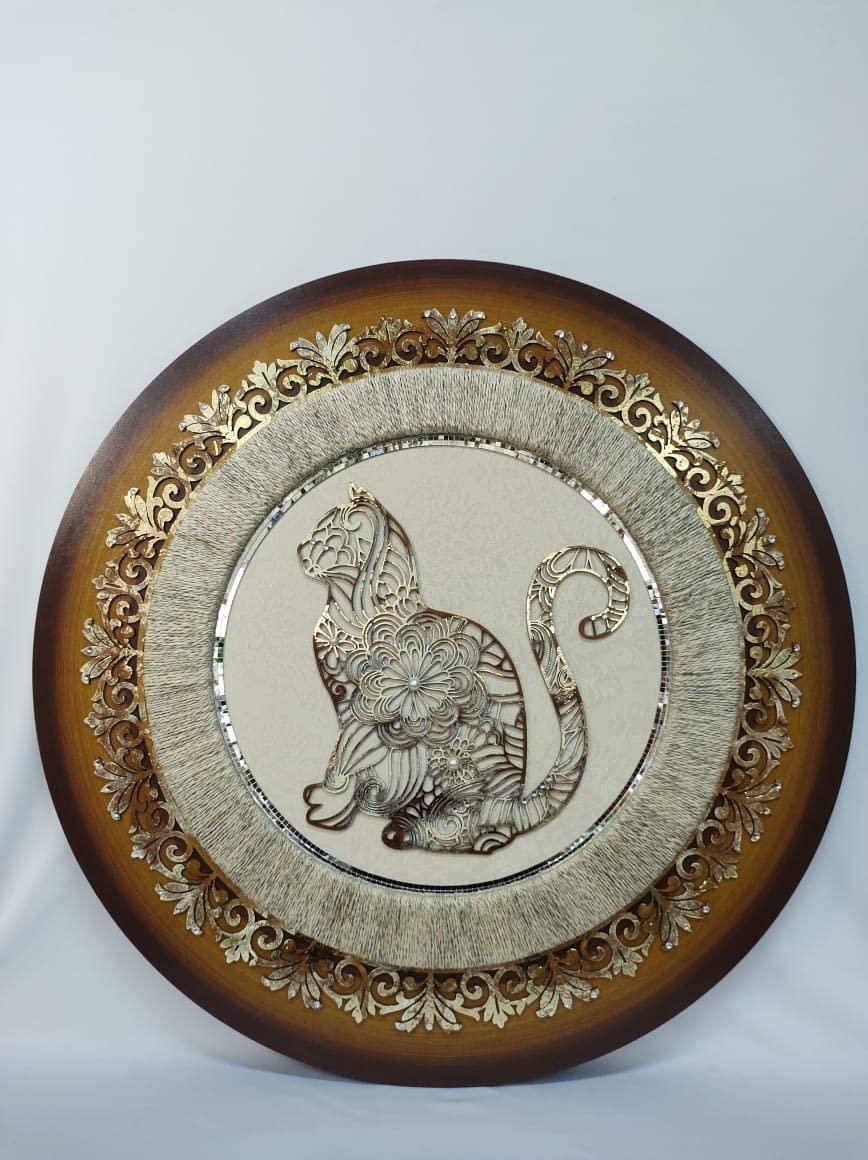 Mandala Gato Decor c/ Sisal 80cm