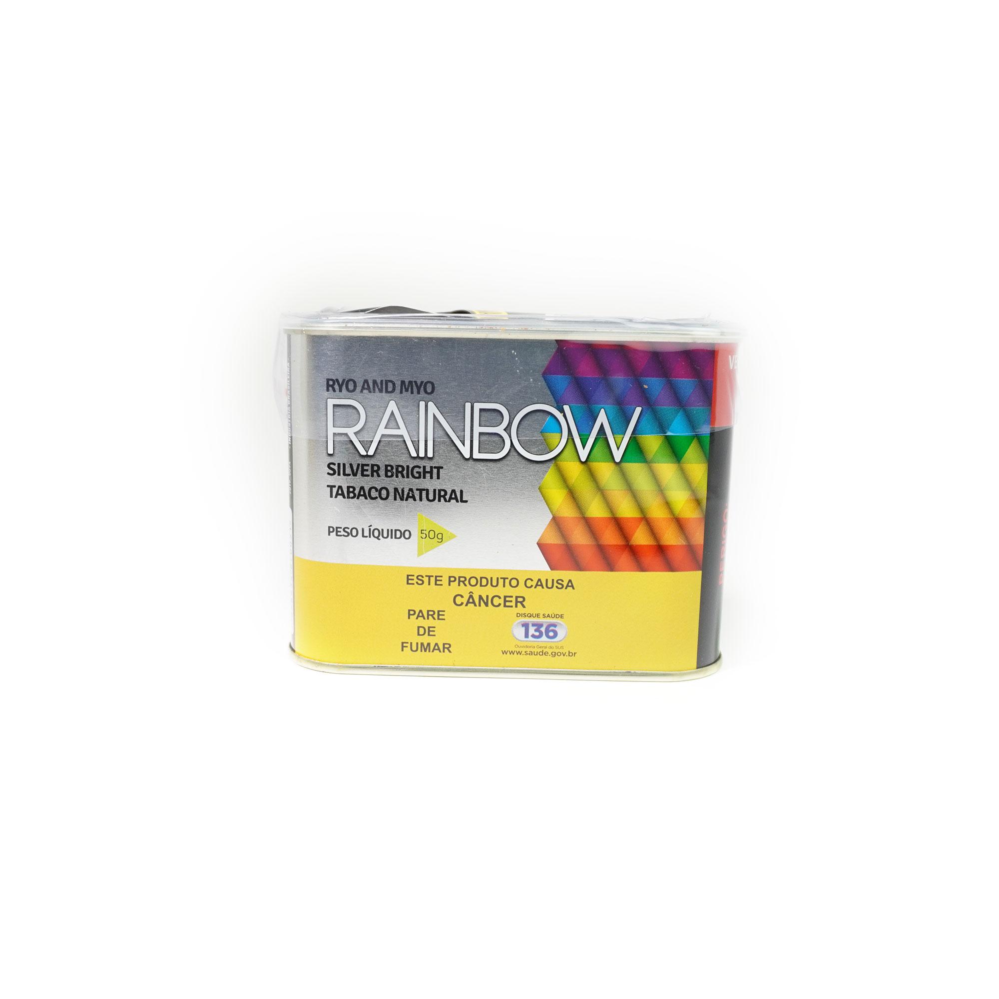 Tabaco Rainbow Natural Silver Lata 50g