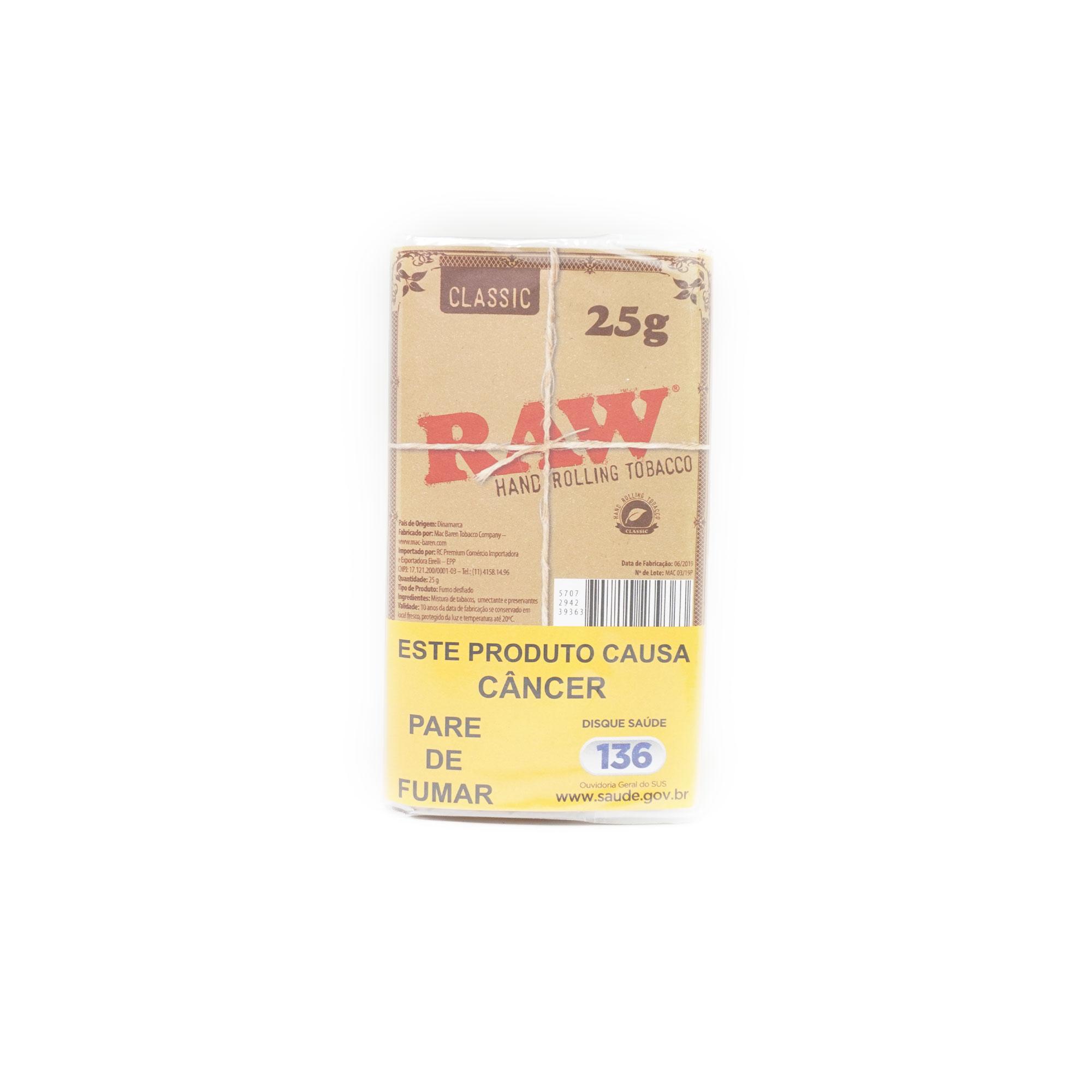 Tabaco Raw Classic 25g