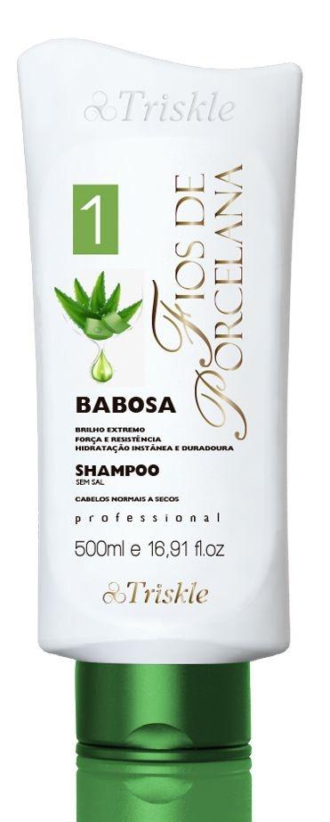 Shampoo Babosa Fios de Porcelana 500ml - Triskle Cosméticos