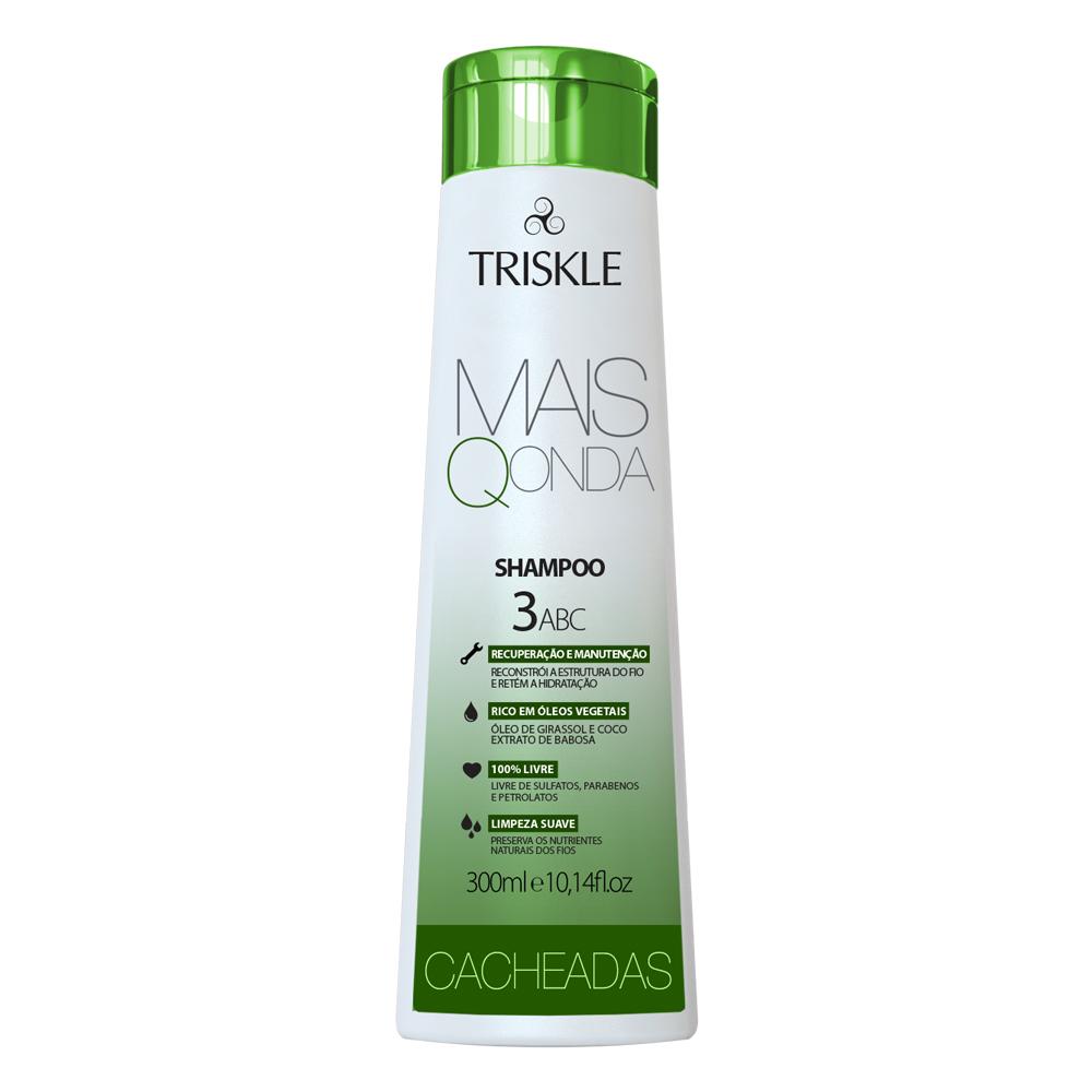 Shampoo Cacheadas Mais Q Onda 300ml - Triskle Cosméticos