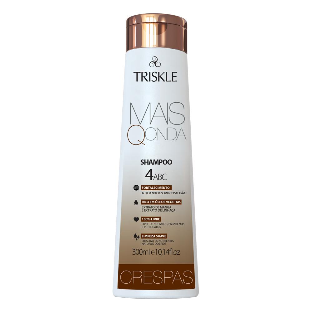 Shampoo Crespas Mais Q Onda 300ml - Triskle Cosméticos