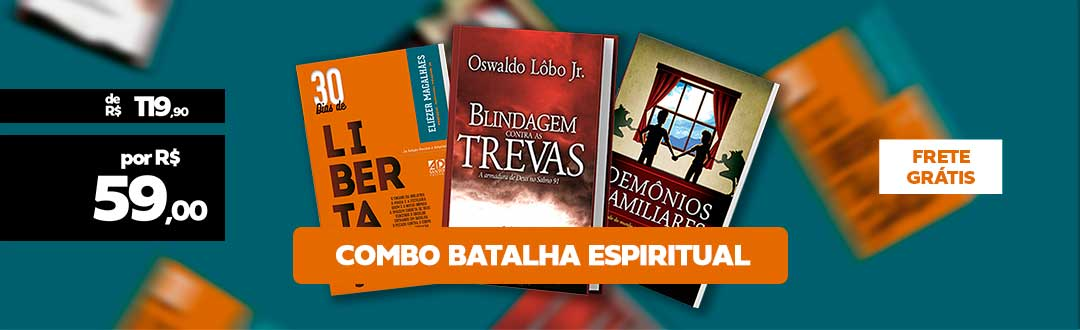 Combo com 3 livros sobre Batalha Espiritual
