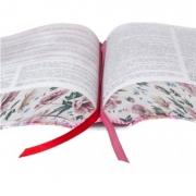 BÍBLIA DA PREGADORA PENTECOSTAL - Almeida Revista e Corrigida COURO Bonded Floral