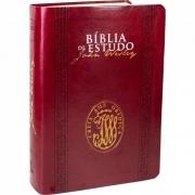 BÍBLIA DE ESTUDO JOHN WESLEY (CAPA VERMELHA)