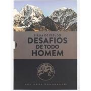 BÍBLIA ESTUDO NVT - DESAFIOS DE TODO HOMEM AZUL (CAPA LUXO - LETRA NORMAL)