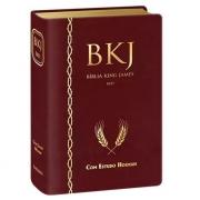 BÍBLIA KING JAMES 1611 COM ESTUDO HOLMAN Vinho