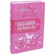 BÍBLIA SAGRADA ENTRE MENINAS E DEUS NTLH Rosa Kid