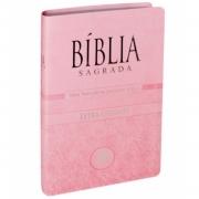 BÍBLIA SAGRADA LETRA GIGANTE NTLH Rosa Claro