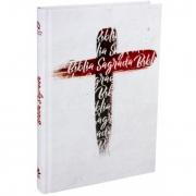 BÍBLIA SAGRADA - Nova Almeida Atualizada Capa Dura Cruz Branca