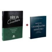 COMBO - Bíblia de Estudo Conselheira + Manual de Celebração do Ministro