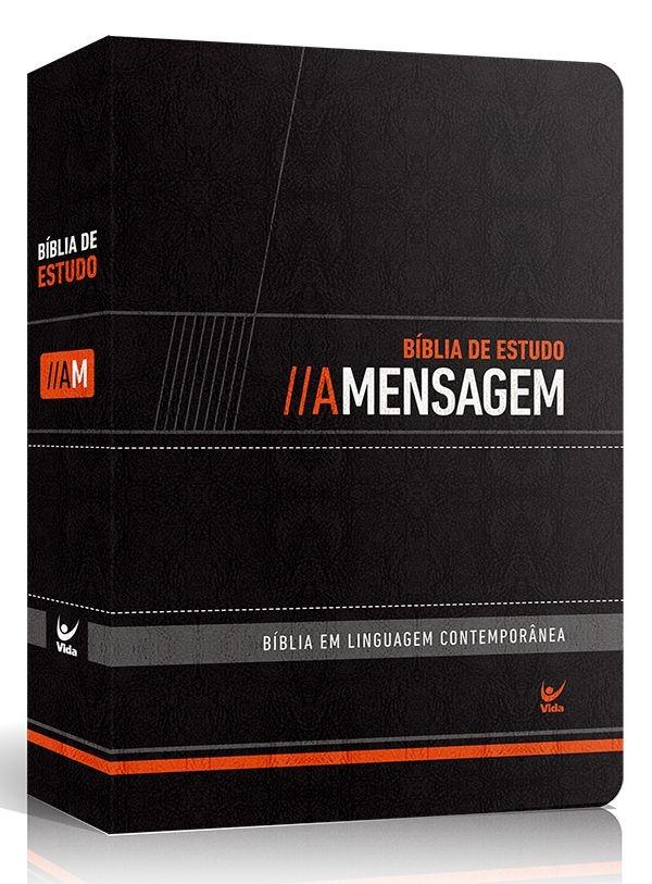 BÍBLIA DE ESTUDO A MENSAGEM (capa Preta luxo)