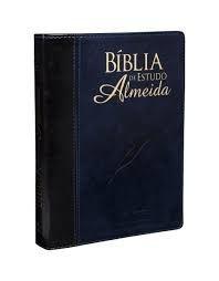 Biblia de Estudo Almeida   azul nobre
