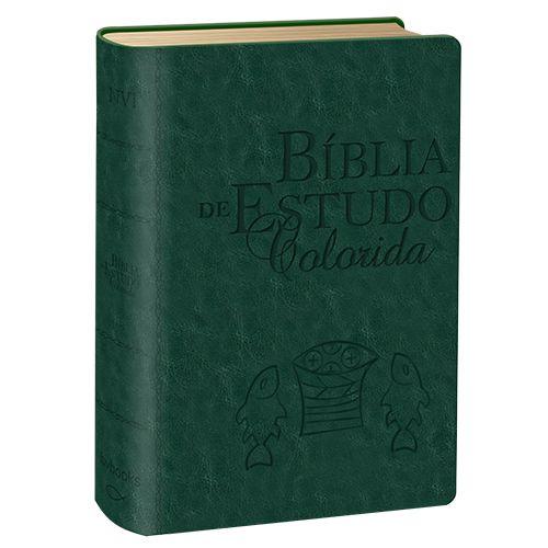 Bíblia de Estudo Colorida - NVI - Verde