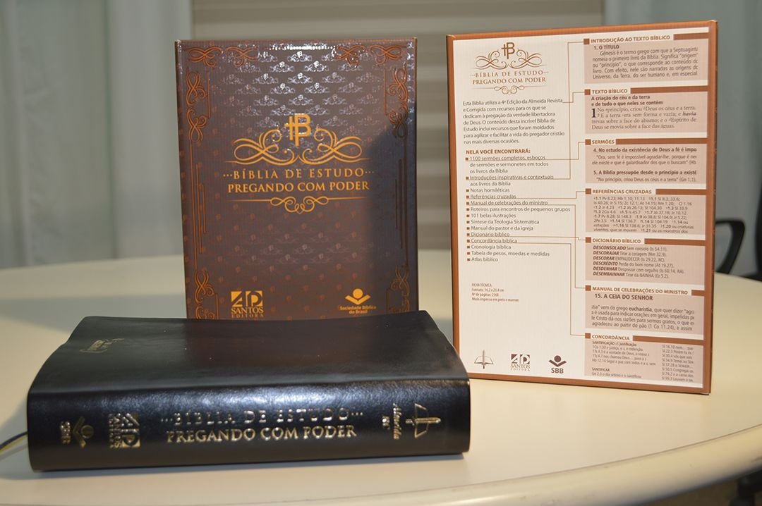 BÍBLIA DE ESTUDO PREGANDO COM PODER - CAPA PRETA CLÁSSICA
