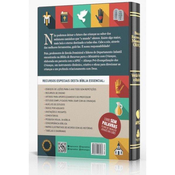 Bíblia de recursos para o ministério com crianças - Luxo PU preta