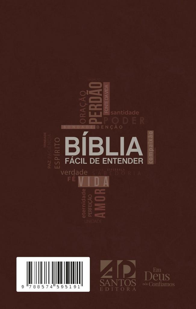 Bíblia Fácil de entender NTLH - Capa Marrom Cross