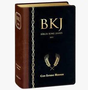 BÍBLIA KING JAMES 1611 COM ESTUDO HOLMAN Marrom com Preto