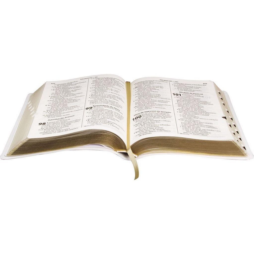 Bíblia Sagrada Branca Letra Gigante