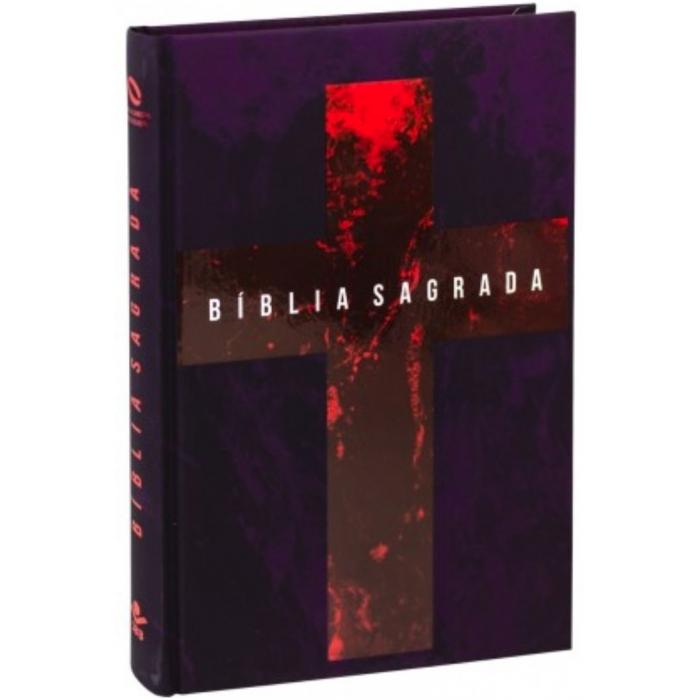 BÍBLIA SAGRADA - Nova Almeida Atualizada Capa Dura Cruz Vinho