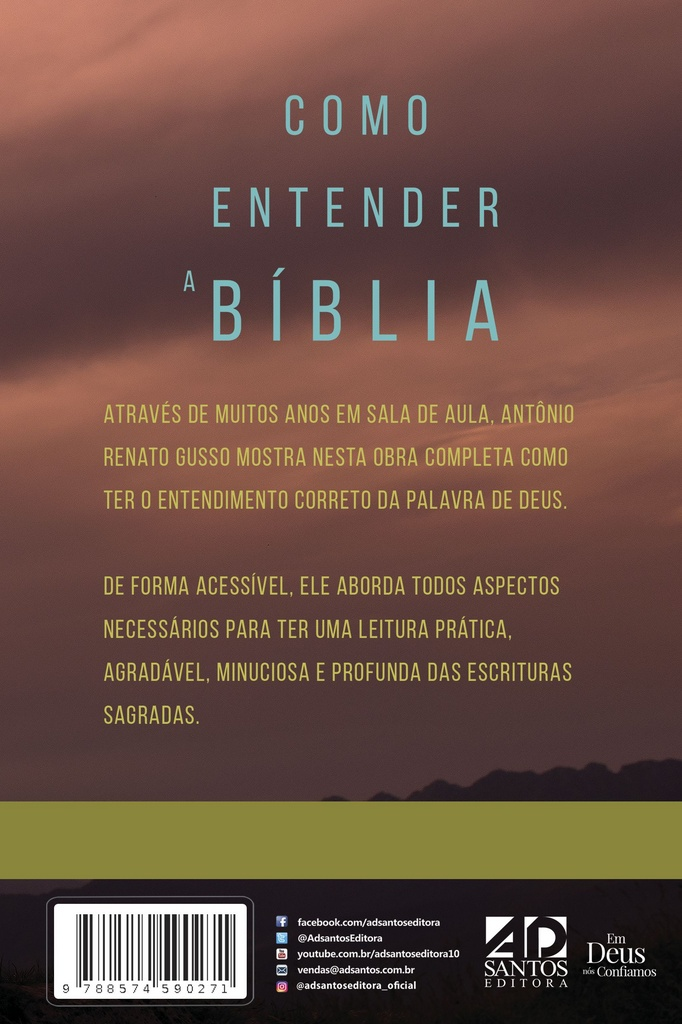 Como Entender a Bíblia - Hermenêutica  |  Antônio Renato Gusso